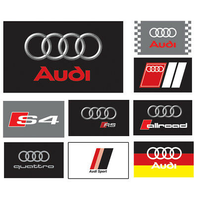 AUDI RS FLAG BANNER LOGO 3x5ft / 90x150cm 2-Grommets Wall Banner Combination 9