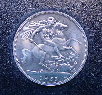 Very Nice British Festival Of Britain Crown Coin King George 1951 In Box