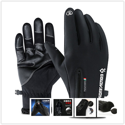 Mens Women Thermal Insulated Touchscreen Warm Sports Fleece Lined Gloves Driving