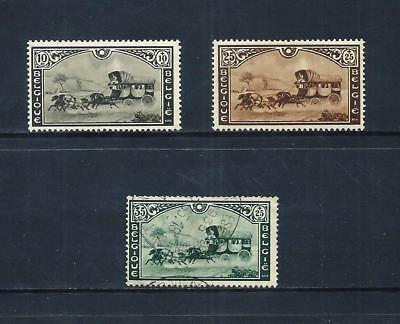 BELGIUM _ 1935 'STAGECOACH' SET of 3 _ mh-used ____(553)
