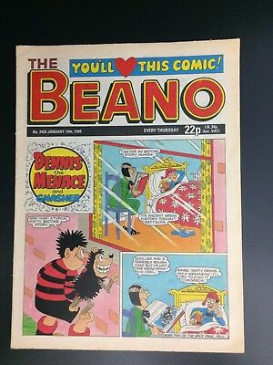The Beano UK Paper Comic No. 2426 January 14 1989