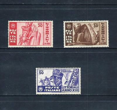 ITALY _ 1935 'LITTORIALI' SET of 3 _ mh ___(553)