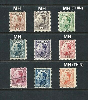 SPAIN _ 1930+ 'KING ALFONSO' SET of 9 _ mh-used ____(553)