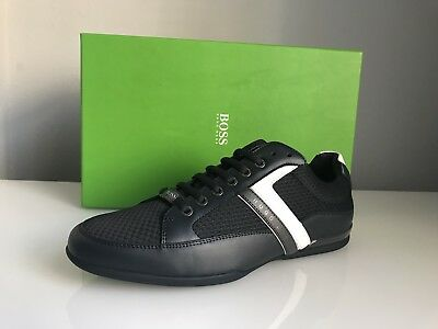 e3a6e6bbd72125 HUGO BOSS GREEN Space Low Lop Trainers Dark Blue Size UK 8 RRP £139 ...