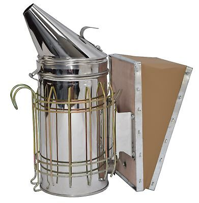 VIVO Bee Hive Smoker Stainless Steel w/Heat Shield Beekeeping Equipment