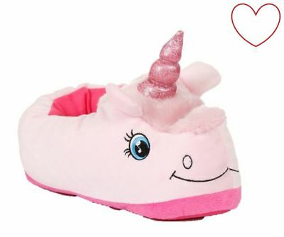 Girls Unicorn Slippers Childrens 3D Novelty Footwear Foot Coverings