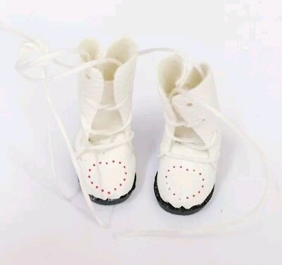 New 3.3cm 1/8 1/6 white boots shoes For BJD Blyth Doll Pullip