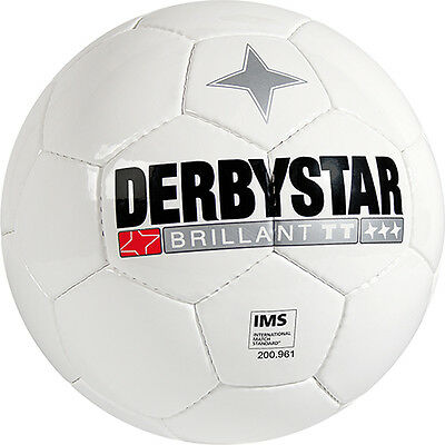 10 Derbystar BRILLANT TT Top-Trainingsfußball, weiss
