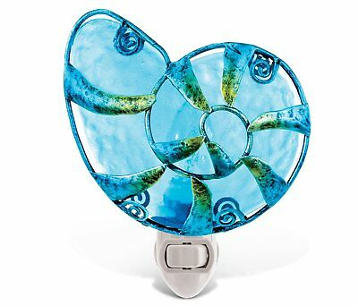 Puzzled Shell Night Light Decor - Metal And Glass Lights Seashells Plug In