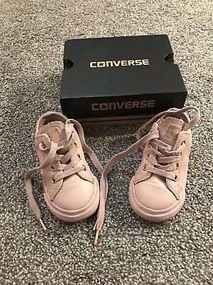 Converse All Star Oxford Pale Mauve/ Rose Gold Shoes UK Toddler Size 6