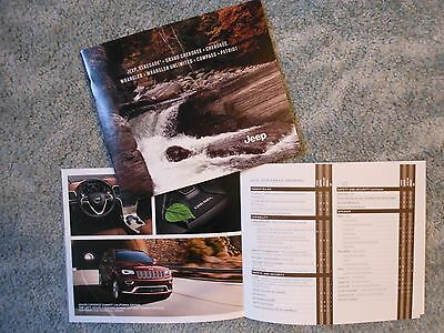 2015 Jeep Renegade Grand Cherokee Wrangler Compass + Sales Folder Auto Show
