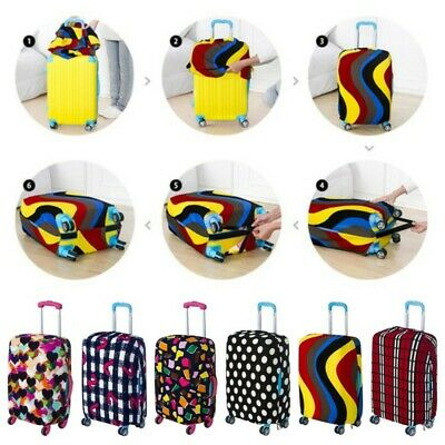 Elastic Travel Luggage Suitcase Spandex Cover Protector Dustproof Cover S-XL