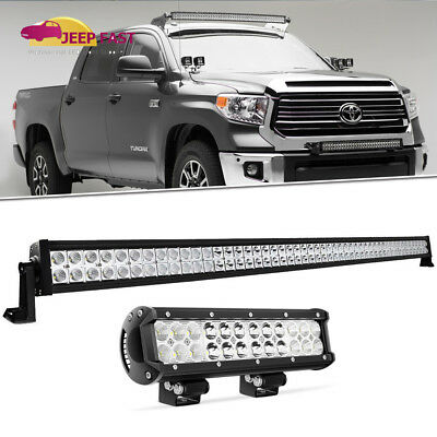 """52inch LED Light Bar Spot Flood + 12in CREE Work Lamp Offroad SUV UTE Ford 50"""""""