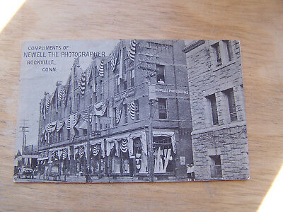 Postcard of Rockville Conn Black and White