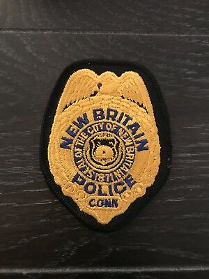 New Britain Ct Connecticut Police Department Officer Patch Breast Vest Jacket