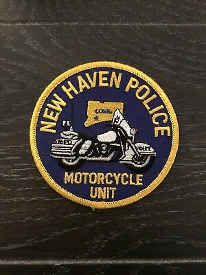 New Haven Ct Connecticut Police Department Officer Patch Motorcycle Unit