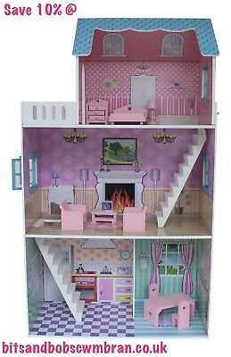 Townhouse Dollhouse with Furniture, Toys, Kids, Play, Furniture, Bedroom, Fun