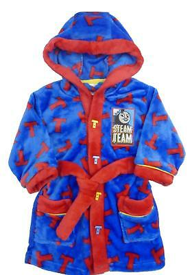 Baby Boys Thomas The Tank Engine Hooded Train Dressing Gown Blue 12 18 24 Months