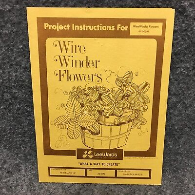 Project Instructions For Wire Winder Flowers Sheet Guide Leewards Crafts 1975