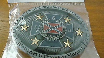 New CSA Southern Cross of Honor Confederate States of America  Belt Buckle