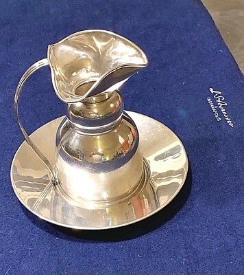 (170g) Edward San Giovanni Sterling Silver Pitcher & Plate Vintage - Lovely