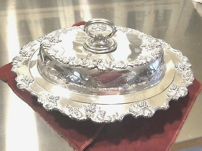 (1234g) FABULOUS Barbour & Co. Silver Vintage Serving Bowl w/ Cover - Stunning!