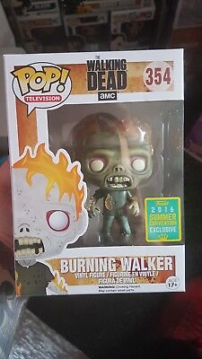 The walking dead: Funko pop! Burning walker 2016 convention exclusive RARE