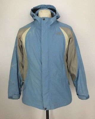 THE NORTH FACE Hooded Waterproof HYVENT Jacket Coat XL Girls / Small Womens Blue