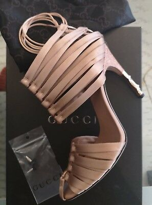 9cf0205f038a 2004 TOM FORD for GUCCI RUNWAY NUDE CORSET SATIN HEELS bamboo crocodile  Shoes UK