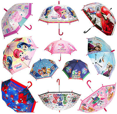 Kids Character Umbrella Disney Marvel Travel Rain Brolly Film Outdoor Childrens