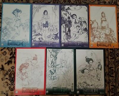 Fathom Limited Retailer Edition Sketch (Variant) Lot of 7 #1 2 4 6 7 8 9 NM/VF