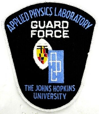 Applied Physics Lab John Hopkins University Guard Force Patch Police NOS