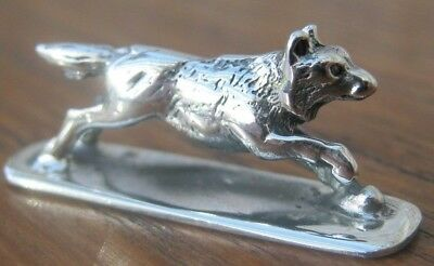 Beautiful Sterling Silver Study Of A Wolf / Possibly Dog / German Shepperd