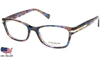 8740746ee3 NEW COACH HC 6065 5288 Confetti Purple EYEGLASSES GLASSES 49-17-135 B34mm