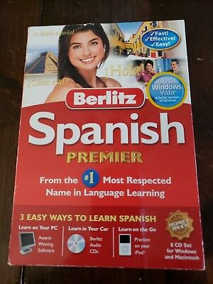 Berlitz Spanish Premier Language Learning Software - 8 CD set  NEW