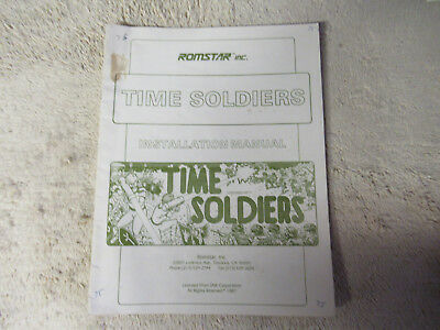 TIME SOLDIERS romstar  arcade   game manual