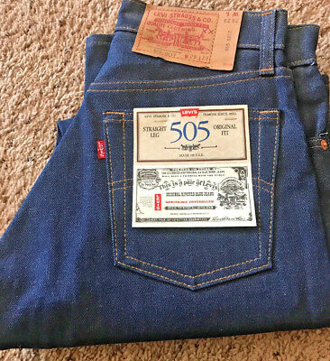 Vintage Levi's 29-29, 505-0217, 1985, Red Tag, Made USA