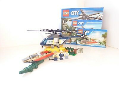 Lego 4429 City Helicopter Rescue Complete With Instructions No Box