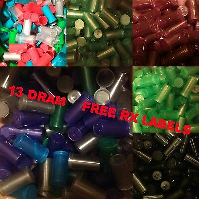 150 × 13Dram Pop Top Pots Squeeze  Rx Medical Weed Smellproof Free Rx Labels