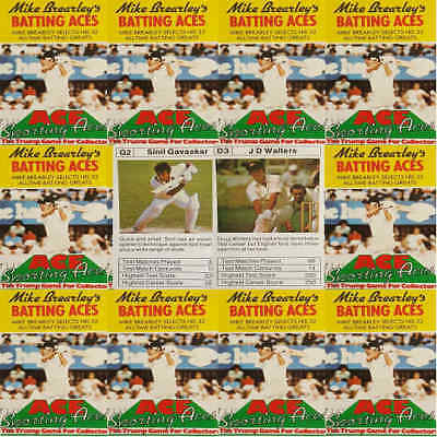 TOP TRUMPS Single Card Cricket MIKE BREARLEYS Batting Aces - Various (FB3)