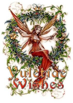 Wicca Christmas.Anne Stokes Winter Owl Greetings Pagan Wicca Alternative