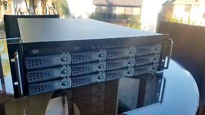 3U Server Case Chassis Hotswap Bay with 600W PSU freeNAS unraid 12 HDD Slots