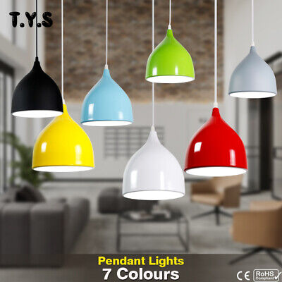 Colorful Retro Pendant Lamp Vintage Chandelier Ceiling Lights Cafe Bar Fixture