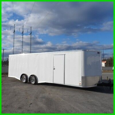 8.5x26 +2v nose spread axle 28 toy hauler 5200 axles car enclosed Cargo trailer