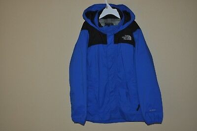 The North Face HyVent Kid's Blue/Black Hooded Waterproof Rain Jacket SZ: M Boy's