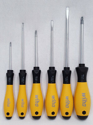 ESD Screwdriver Set #2 Phillips Slotted Steel Cushion Grip 6 Pieces Wiha 30292