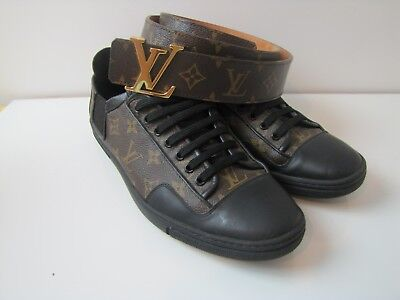 4b5ca4edb80e Louis Vuitton Slalom Shoes Men Sz 8.5 Belt Monogram 85 34 Excellent Cond  Genuine