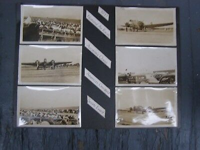 1937 US National Air Races Show Poster REAL PHOTO Airplanes RARE