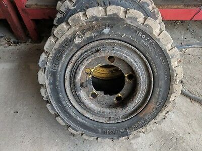 Forklift Tyre - Continental 18 X 7-8 - Solid Tyre Removed From Hyster