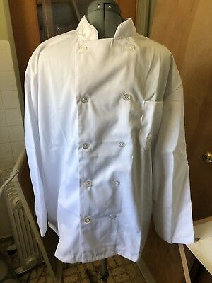 Lot of 3 White XL Mens Chef Jacket - millitary surplus USA Seller